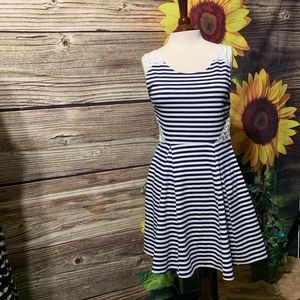 POOF COUTURE STRIPED SLEEVELESS DRESS  SIZE LARGE